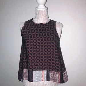 Red and Navy tank top/blouse